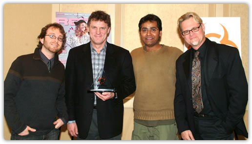 L to R: Markkus Rovito, Chris Halaby, Farhan Mohamed, and Gary Mraz